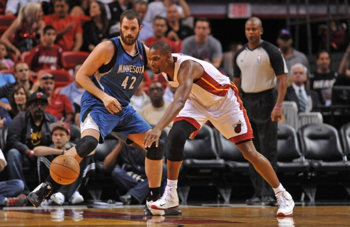 Kevin Love and Chris Bosh
