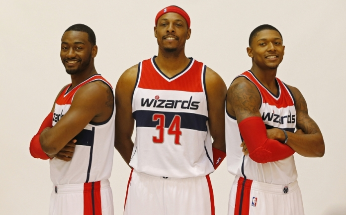 John Wall, Paul Pierce, and Bradley Beal