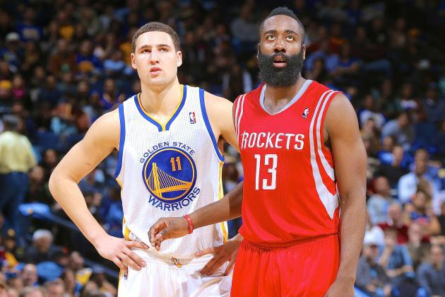 Klay Thompson and James Harden