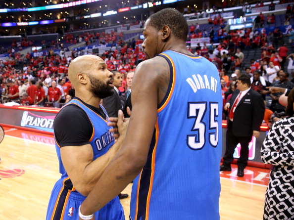 Derek Fisher and Kevin Durant