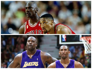 Michael Jordan, Scottie Pippen, Shaq, and Kobe Bryant