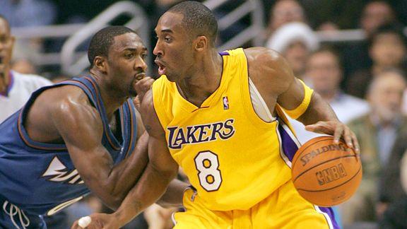 Gilbert Arenas and Kobe Bryant