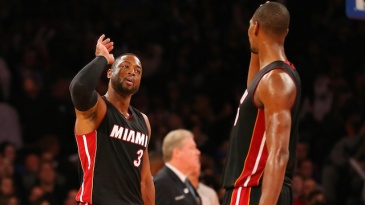 Dwyane Wade and Chris Bosh