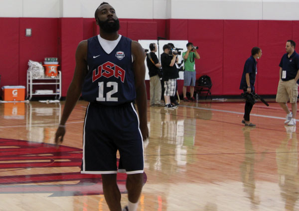Taking time out of Team USA Basketball practice in Las Vegas in preperation for the Olympic games in London, James Harden sits down with the State Press to answer a few questions. (Photo by Josh Nacion)