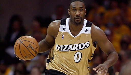 gilbert arenas and his washington wizards 0 gold jerseys