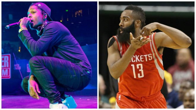 ASAP Rocky and James Harden