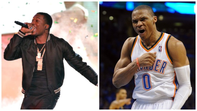 Meek Mill and Russell Westbrook