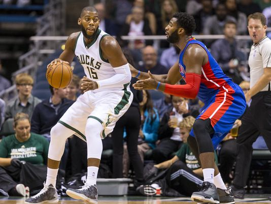 Greg Monroe and Andre Drummond