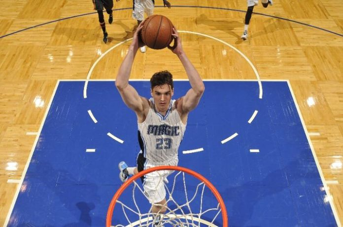 ORLANDO, FL - DECEMBER 20: Mario Hezonja #23 of the Orlando Magic dunks against the Atlanta Hawks during the game on December 20, 2015 at Amway Center in Orlando, Florida. NOTE TO USER: User expressly acknowledges and agrees that, by downloading and or using this Photograph, user is consenting to the terms and conditions of the Getty Images License Agreement. Mandatory Copyright Notice: Copyright 2015 NBAE (Photo by Fernando Medina/NBAE via Getty Images)