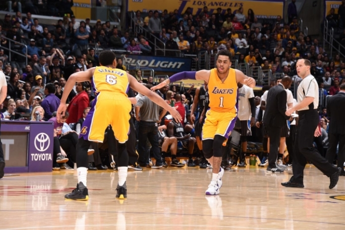 Los Angeles Lakers, Jordan Clarkson, D'Angelo Russell